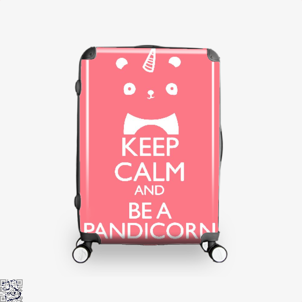 Keep Calm And Be A Pandicorn Panda Suitcase - Pink / 16 - Productgenjpg