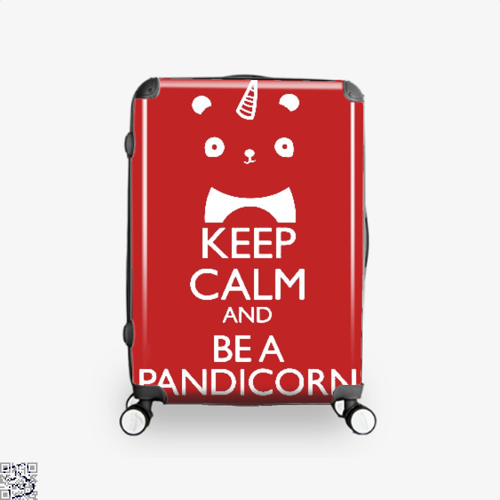 Keep Calm And Be A Pandicorn Panda Suitcase - Red / 16 - Productgenjpg