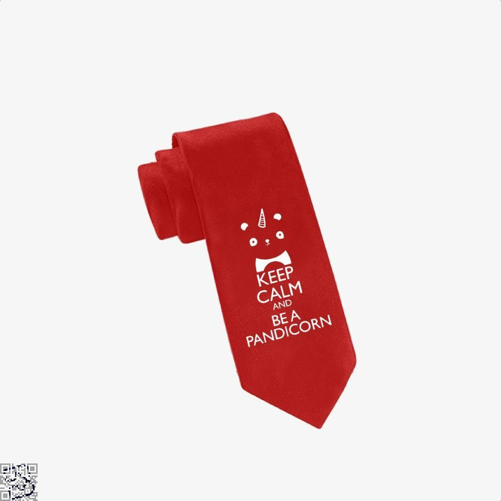 Keep Calm And Be A Pandicorn Panda Tie - Red - Productgenjpg