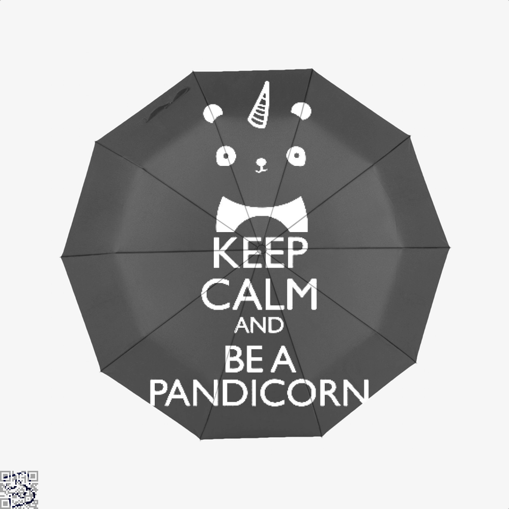 Keep Calm And Be A Pandicorn Panda Umbrella - Black - Productgenjpg