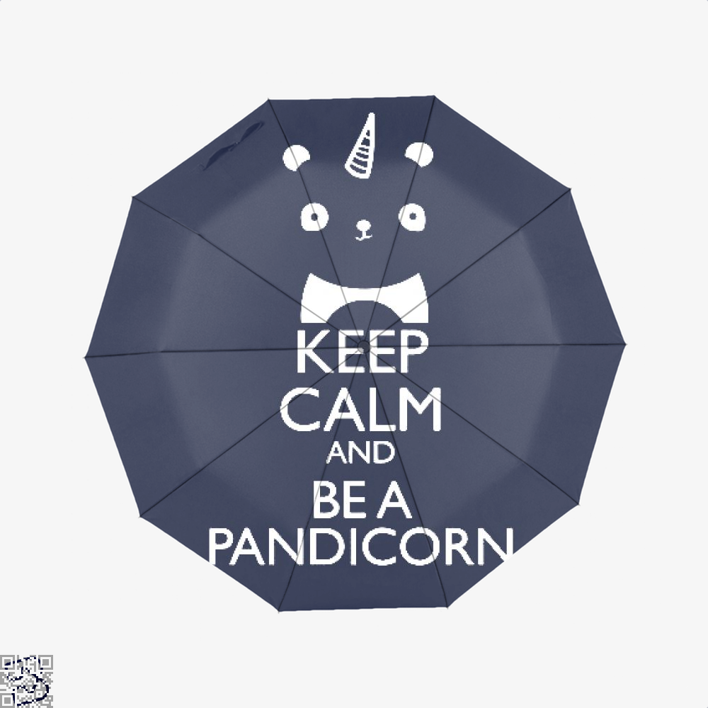 Keep Calm And Be A Pandicorn Panda Umbrella - Blue - Productgenjpg