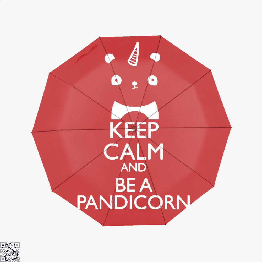 Keep Calm And Be A Pandicorn Panda Umbrella - Red - Productgenjpg