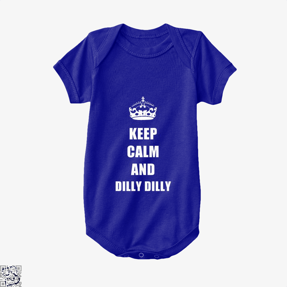 Keep Calm And Dilly Dilly Dilly Dilly Baby Onesie - Navy / 0-3 Months - Productgenapi