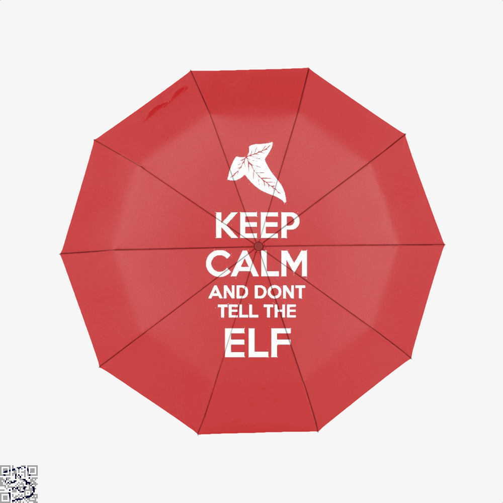 Keep Calm And Dont Tell The Elf Lord Of Rings Umbrella - Red - Productgenjpg