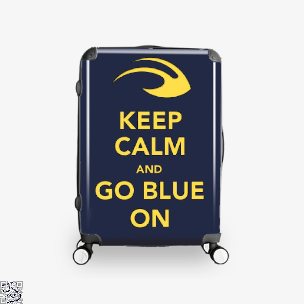 Keep Calm Go Blue Epigrammatic Suitcase - / 16 - Productgenjpg