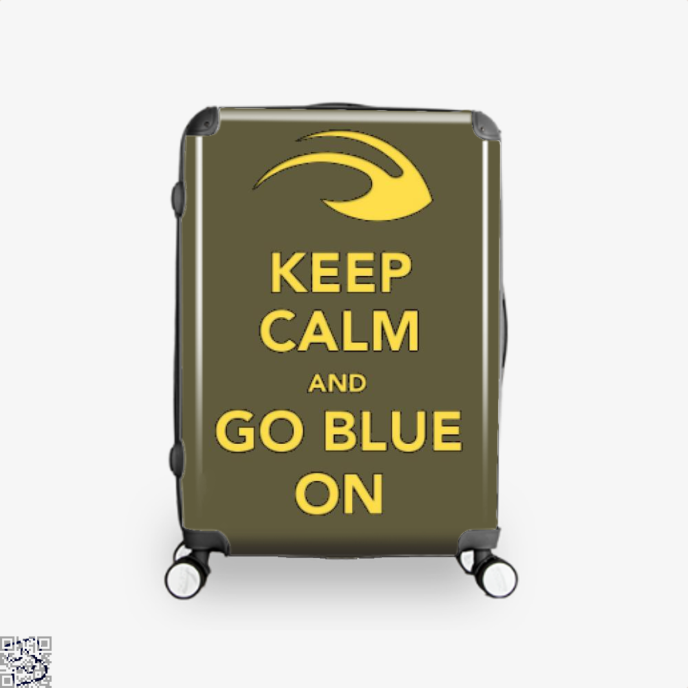 Keep Calm Go Blue Epigrammatic Suitcase - Brown / 16 - Productgenjpg