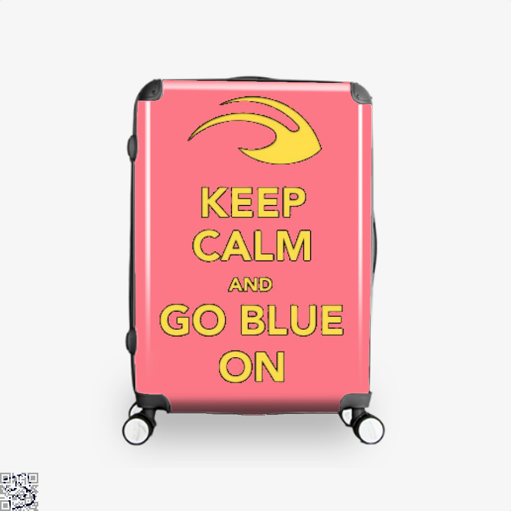 Keep Calm Go Blue Epigrammatic Suitcase - Pink / 16 - Productgenjpg