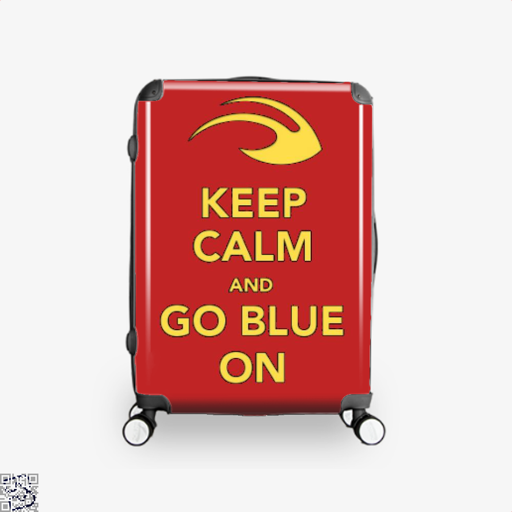 Keep Calm Go Blue Epigrammatic Suitcase - Red / 16 - Productgenjpg