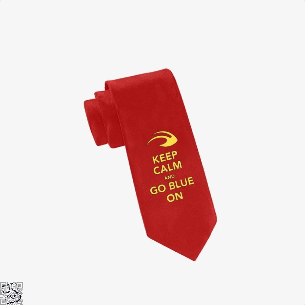 Keep Calm Go Blue Epigrammatic Tie - Red - Productgenjpg