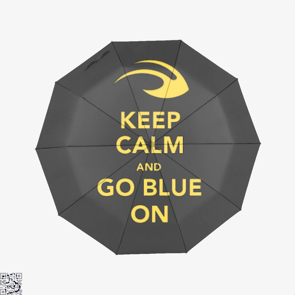 Keep Calm Go Blue Epigrammatic Umbrella - Productgenjpg