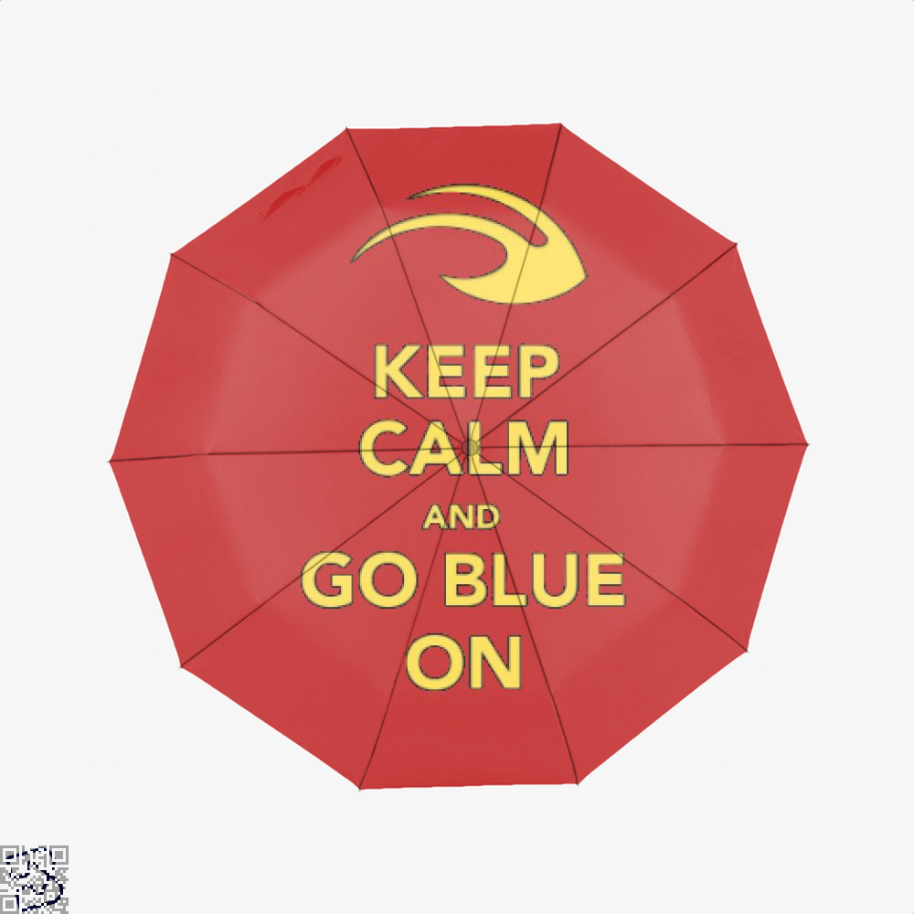 Keep Calm Go Blue Epigrammatic Umbrella - Red - Productgenjpg