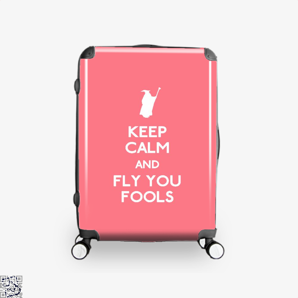 Keep Calm You Fools Lord Of The Rings Suitcase - Pink / 16 - Productgenapi