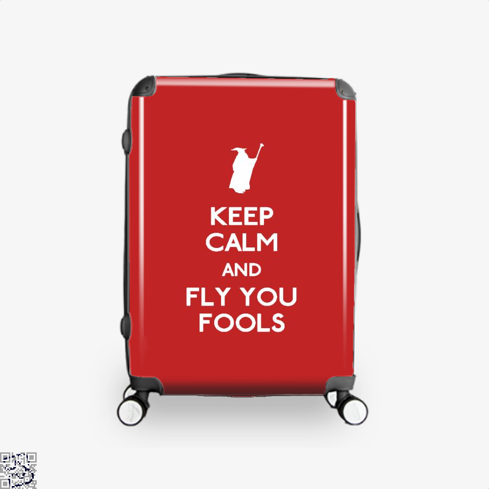 Keep Calm You Fools Lord Of The Rings Suitcase - Red / 16 - Productgenapi