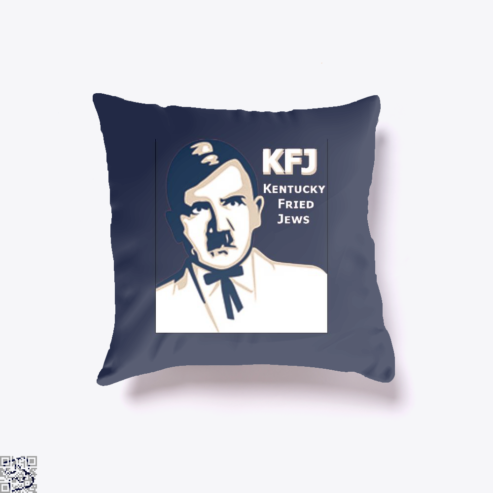Kfj Jew Jokes Ironic Throw Pillow Cover - Blue / 16 X - Productgenjpg