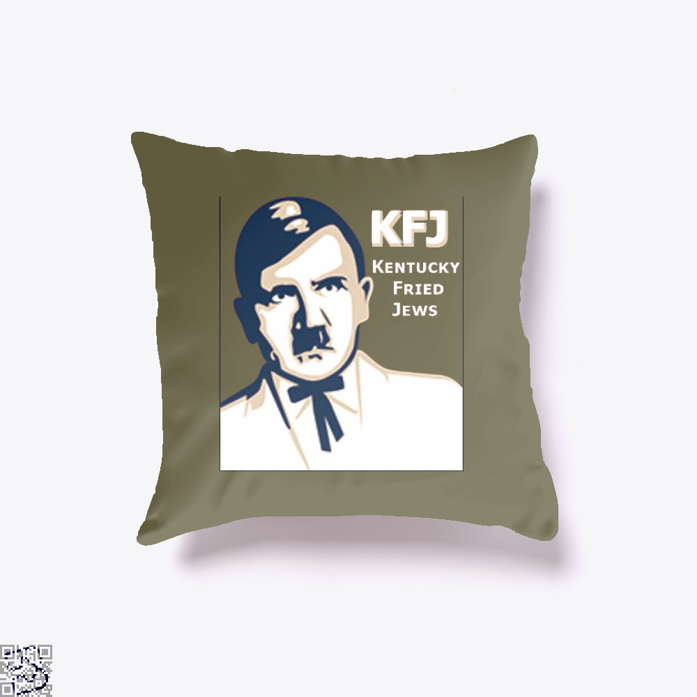 Kfj Jew Jokes Ironic Throw Pillow Cover - Brown / 16 X - Productgenjpg