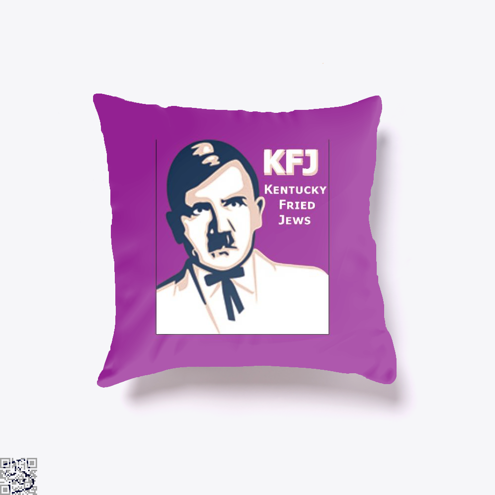 Kfj Jew Jokes Ironic Throw Pillow Cover - Purple / 16 X - Productgenjpg