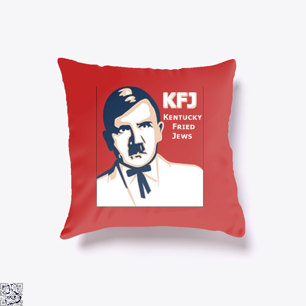 Kfj Jew Jokes Ironic Throw Pillow Cover - Red / 16 X - Productgenjpg