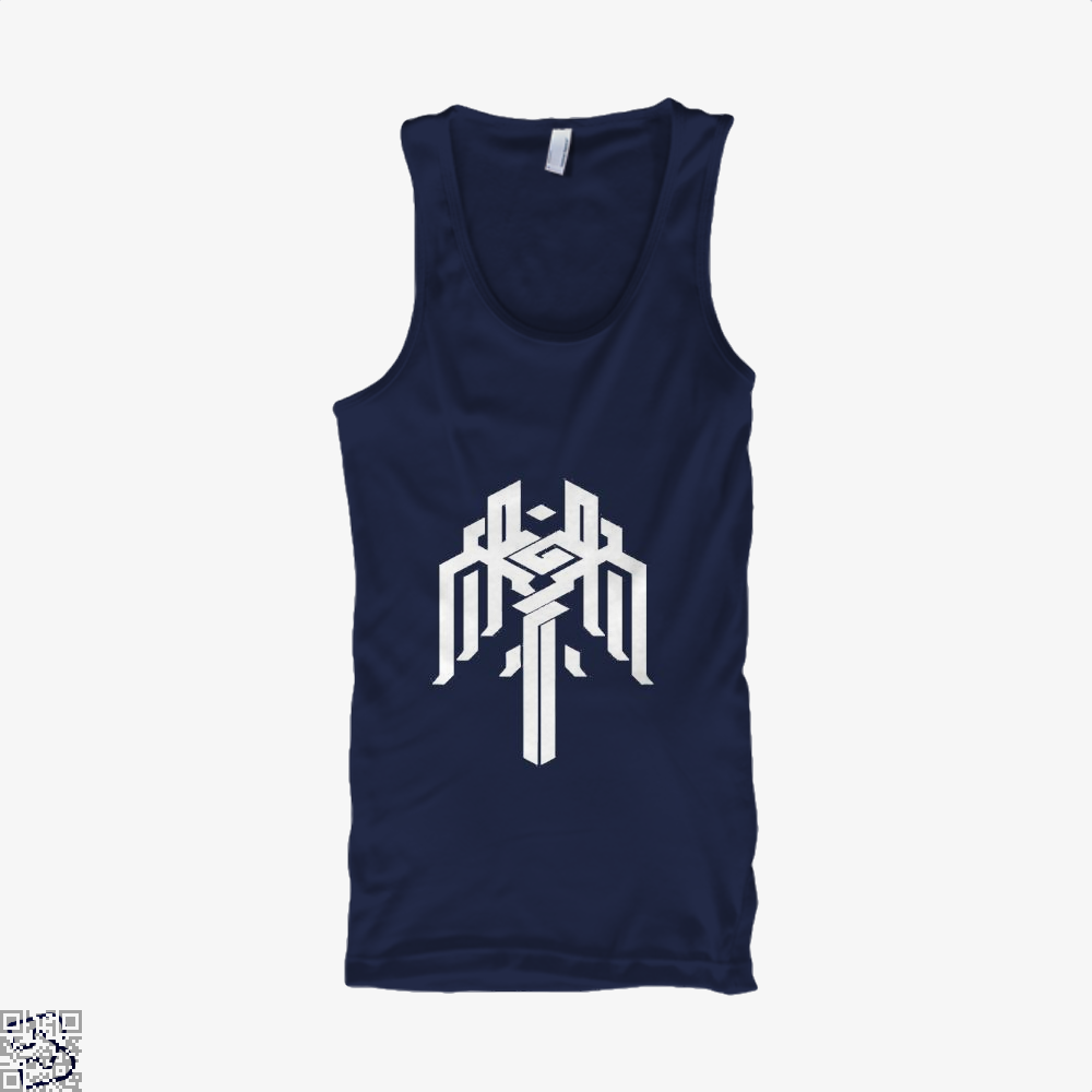 Kirkwall Symbol Dragon And Dungeon Tank Top - Men / Blue / X-Small - Productgenjpg