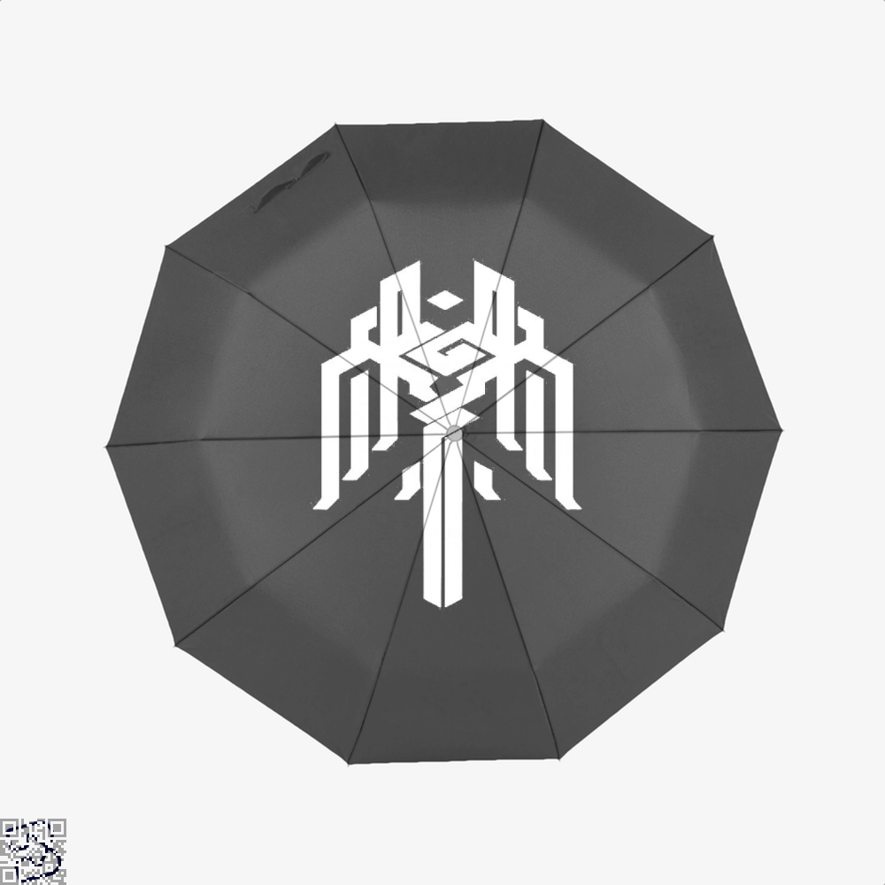 Kirkwall Symbol Dragon And Dungeon Umbrella - Black - Productgenjpg