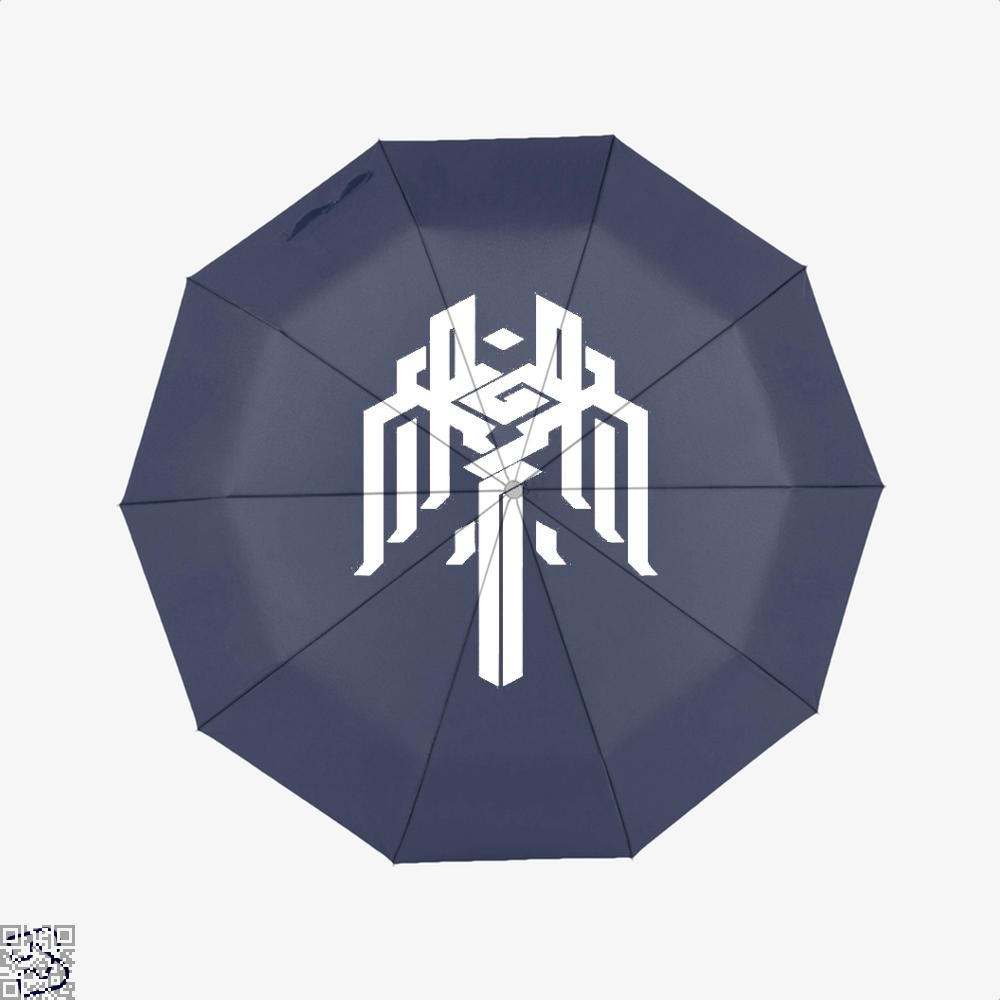 Kirkwall Symbol Dragon And Dungeon Umbrella - Blue - Productgenjpg