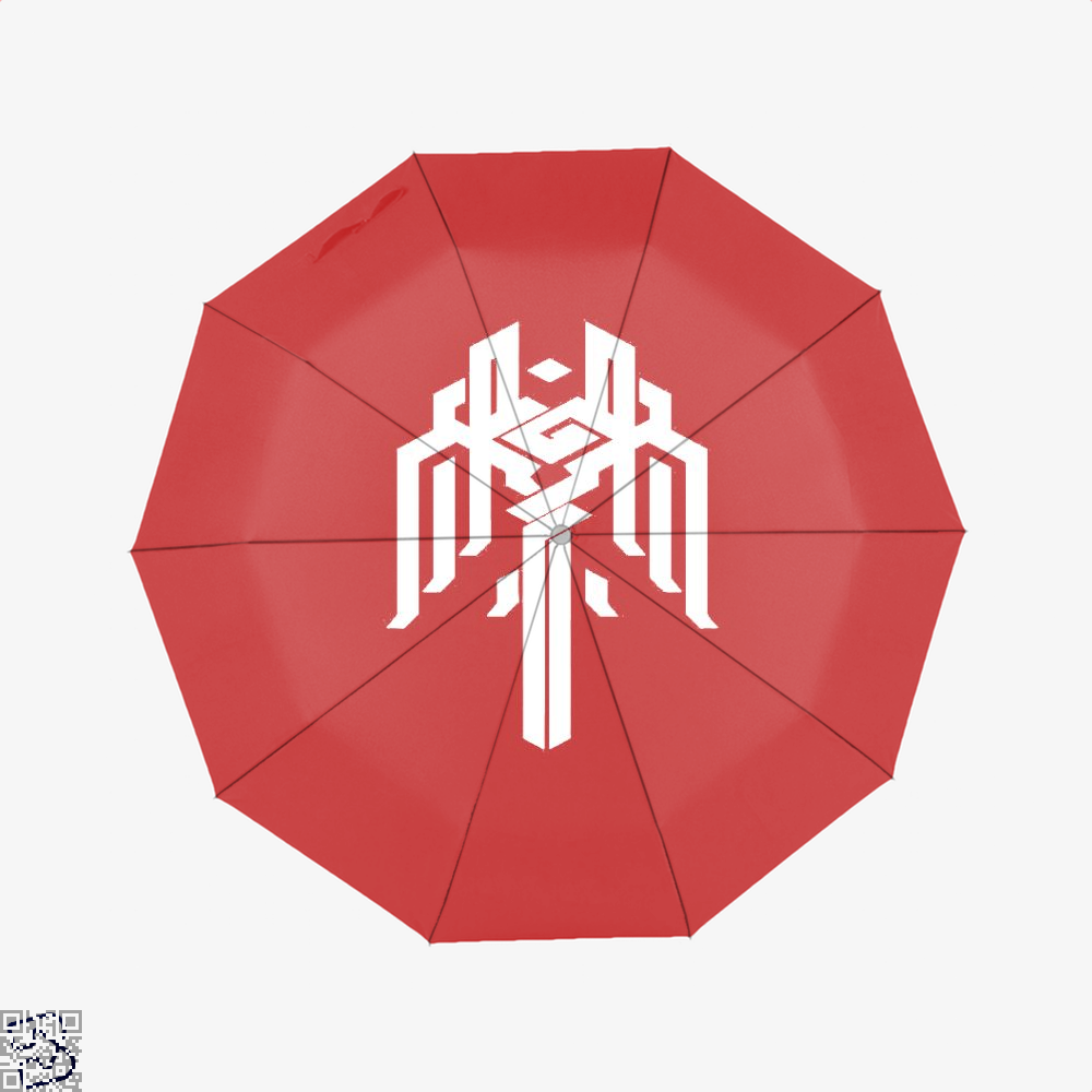 Kirkwall Symbol Dragon And Dungeon Umbrella - Red - Productgenjpg