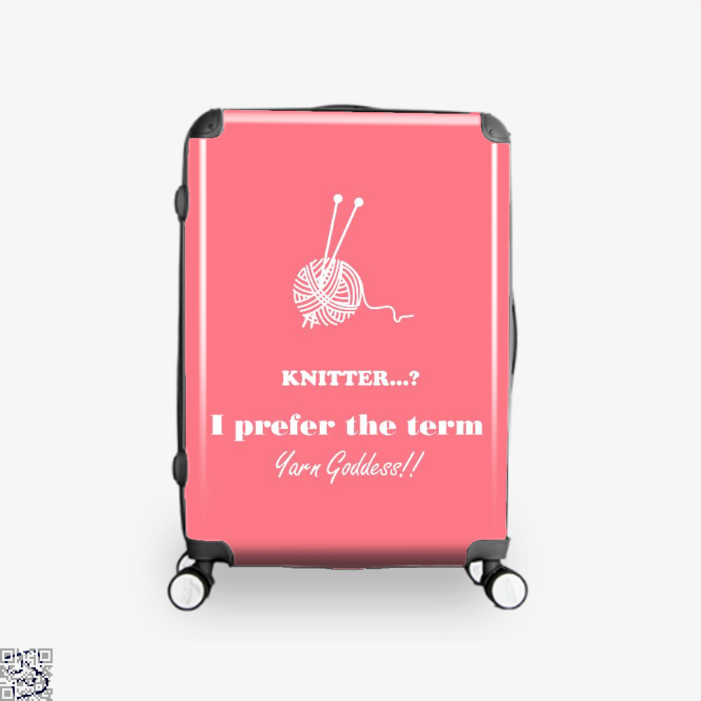 Knitter I Prefer The Term Yarn Goddess Sewing Suitcase - Pink / 16 - Productgenjpg