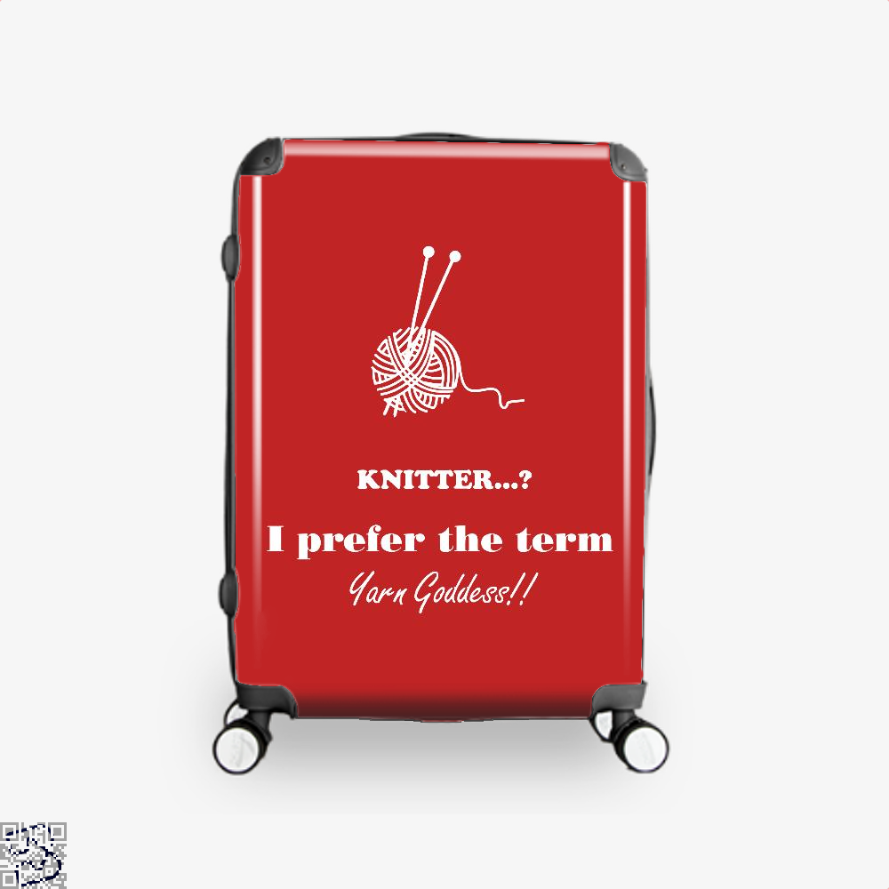 Knitter I Prefer The Term Yarn Goddess Sewing Suitcase - Red / 16 - Productgenjpg
