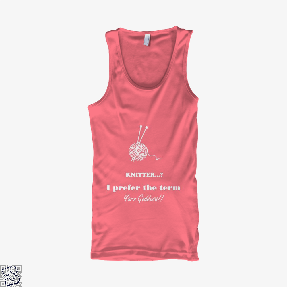 Knitter I Prefer The Term Yarn Goddess Sewing Tank Top - Women / Pink / Xx-Small - Productgenjpg