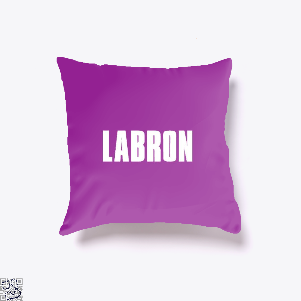 Labron Cavs Throw Pillow Cover - Purple / 16 X - Productgenapi