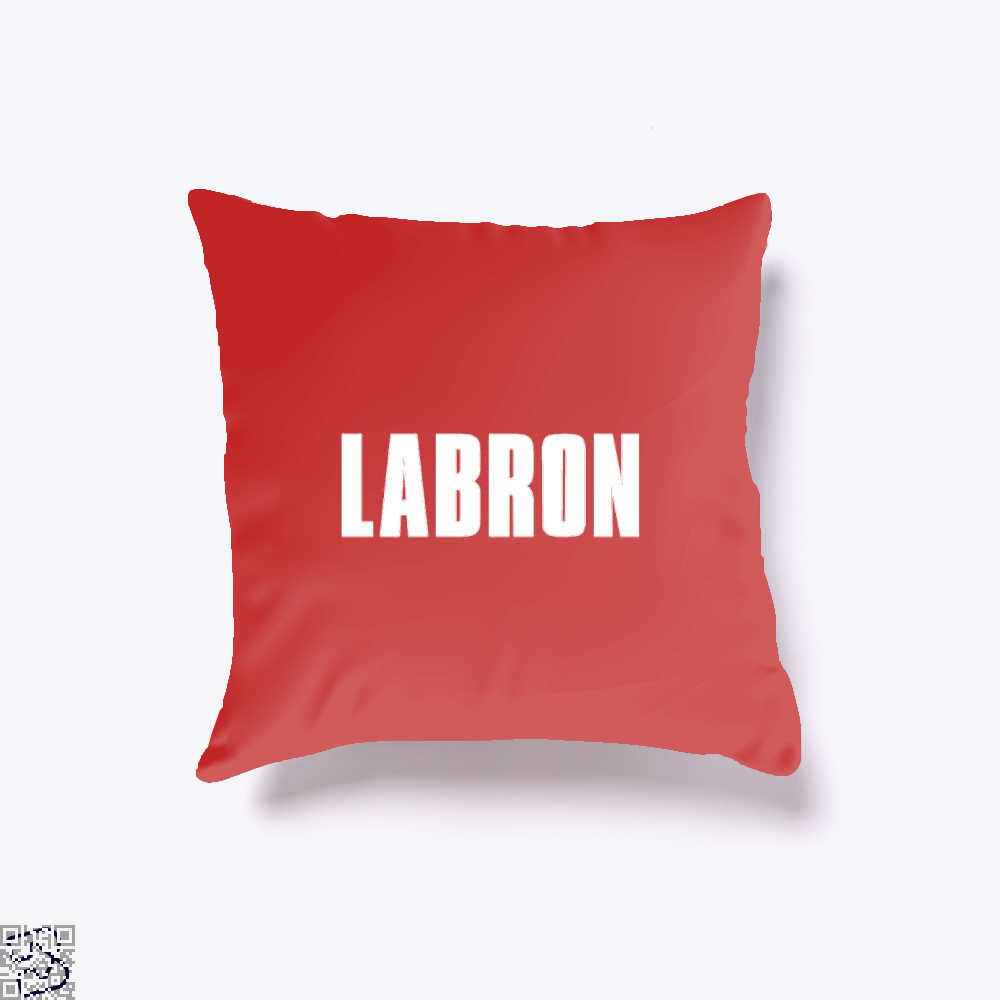 Labron Cavs Throw Pillow Cover - Red / 16 X - Productgenapi