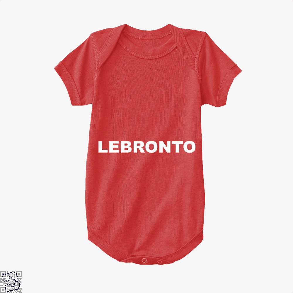 Lebronto Cavs Baby Onesie - Red / 0-3 Months - Productgenapi