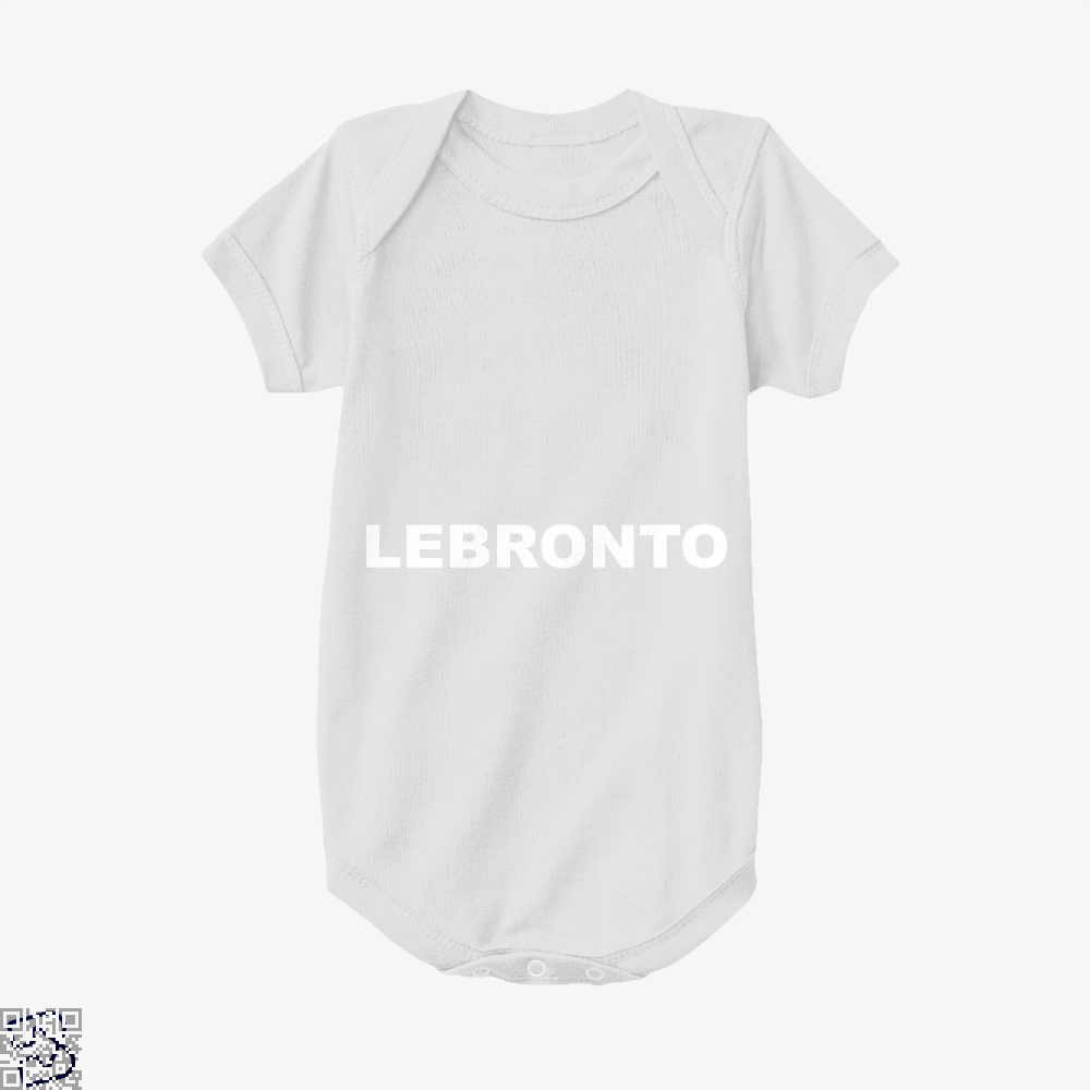 Lebronto Cavs Baby Onesie - White / 0-3 Months - Productgenapi