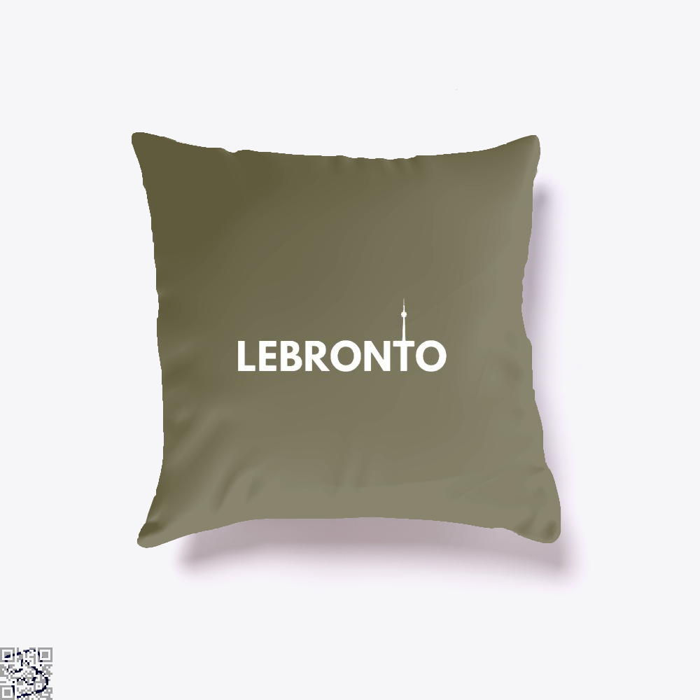 Lebronto City Cavs Throw Pillow Cover - Brown / 16 X - Productgenapi