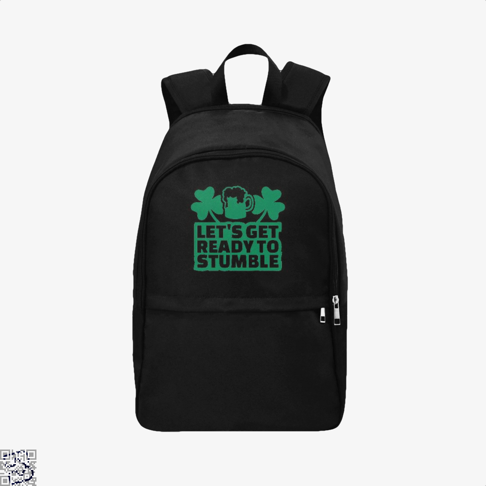 Lets Get Ready Stumble Irish Clover Backpack - Black / Adult - Productgenjpg
