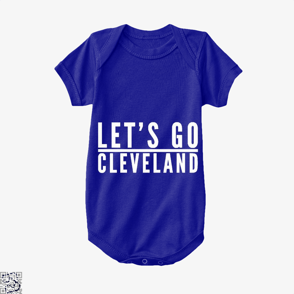 Lets Go Cleveland Cavs Baby Onesie - Navy / 0-3 Months - Productgenapi