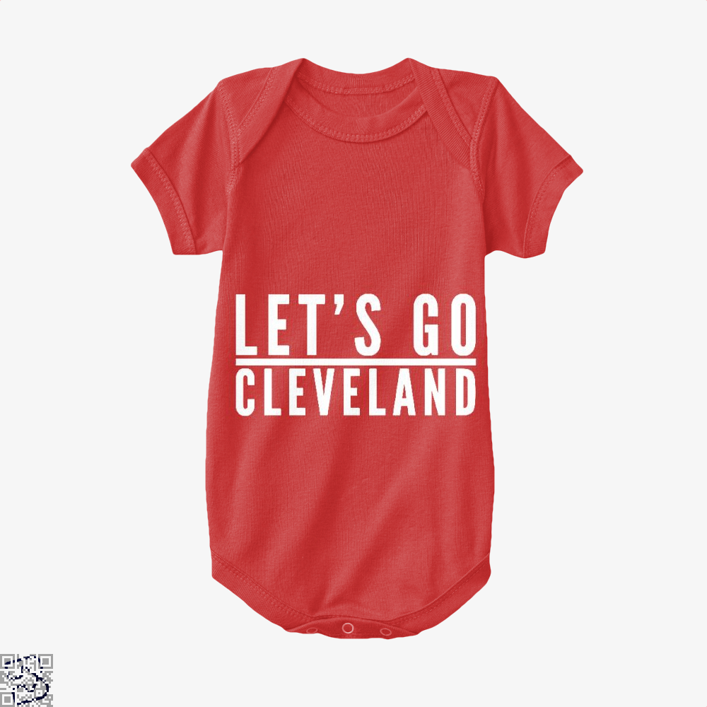 Lets Go Cleveland Cavs Baby Onesie - Red / 0-3 Months - Productgenapi