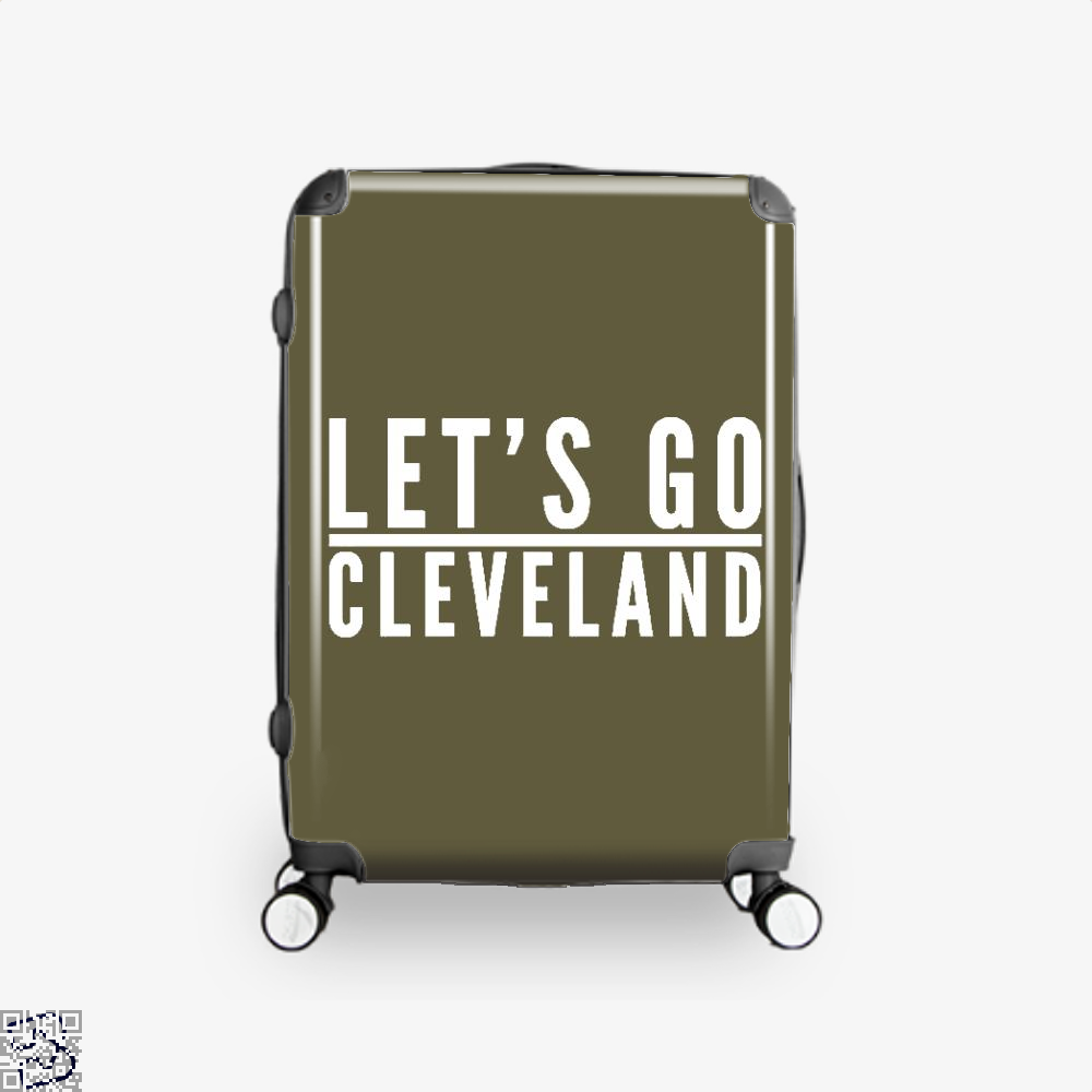 Lets Go Cleveland Cavs Suitcase - Brown / 16 - Productgenapi