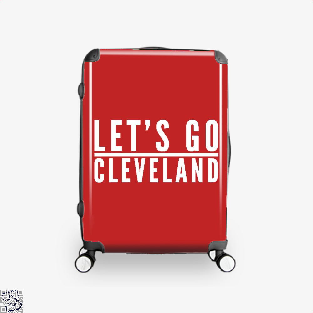 Lets Go Cleveland Cavs Suitcase - Red / 16 - Productgenapi