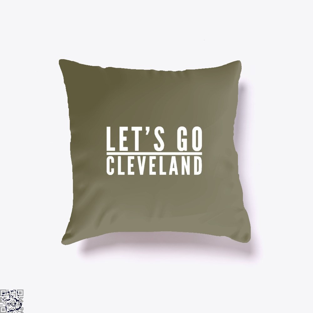Lets Go Cleveland Cavs Throw Pillow Cover - Brown / 16 X - Productgenapi