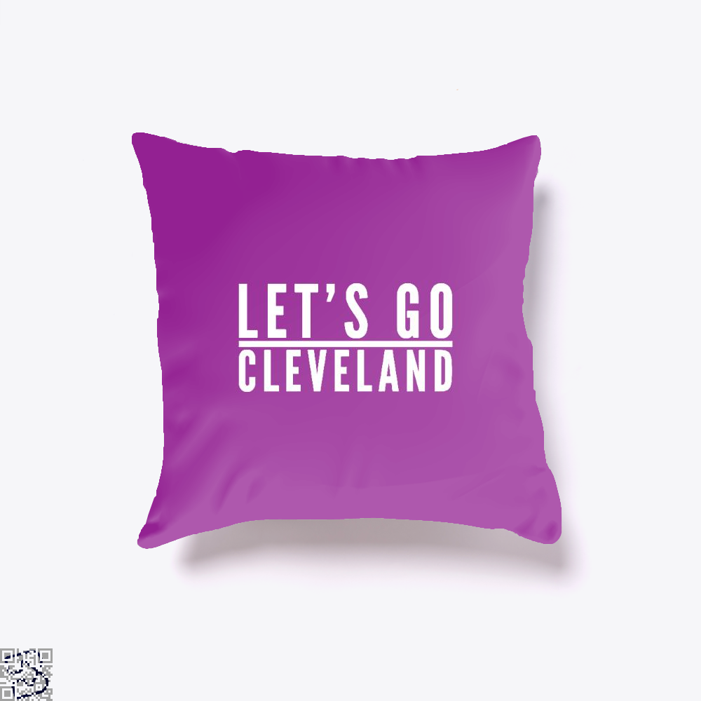 Lets Go Cleveland Cavs Throw Pillow Cover - Purple / 16 X - Productgenapi