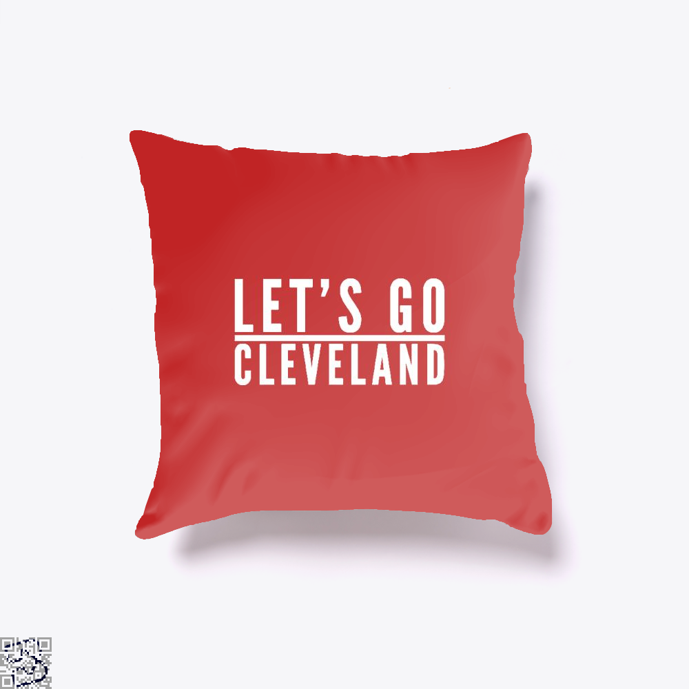 Lets Go Cleveland Cavs Throw Pillow Cover - Red / 16 X - Productgenapi