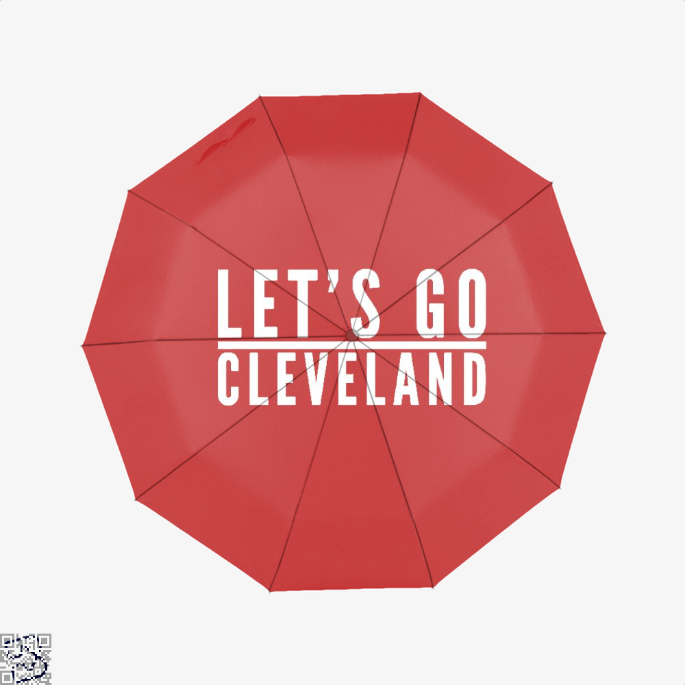 Lets Go Cleveland Cavs Umbrella - Red - Productgenapi