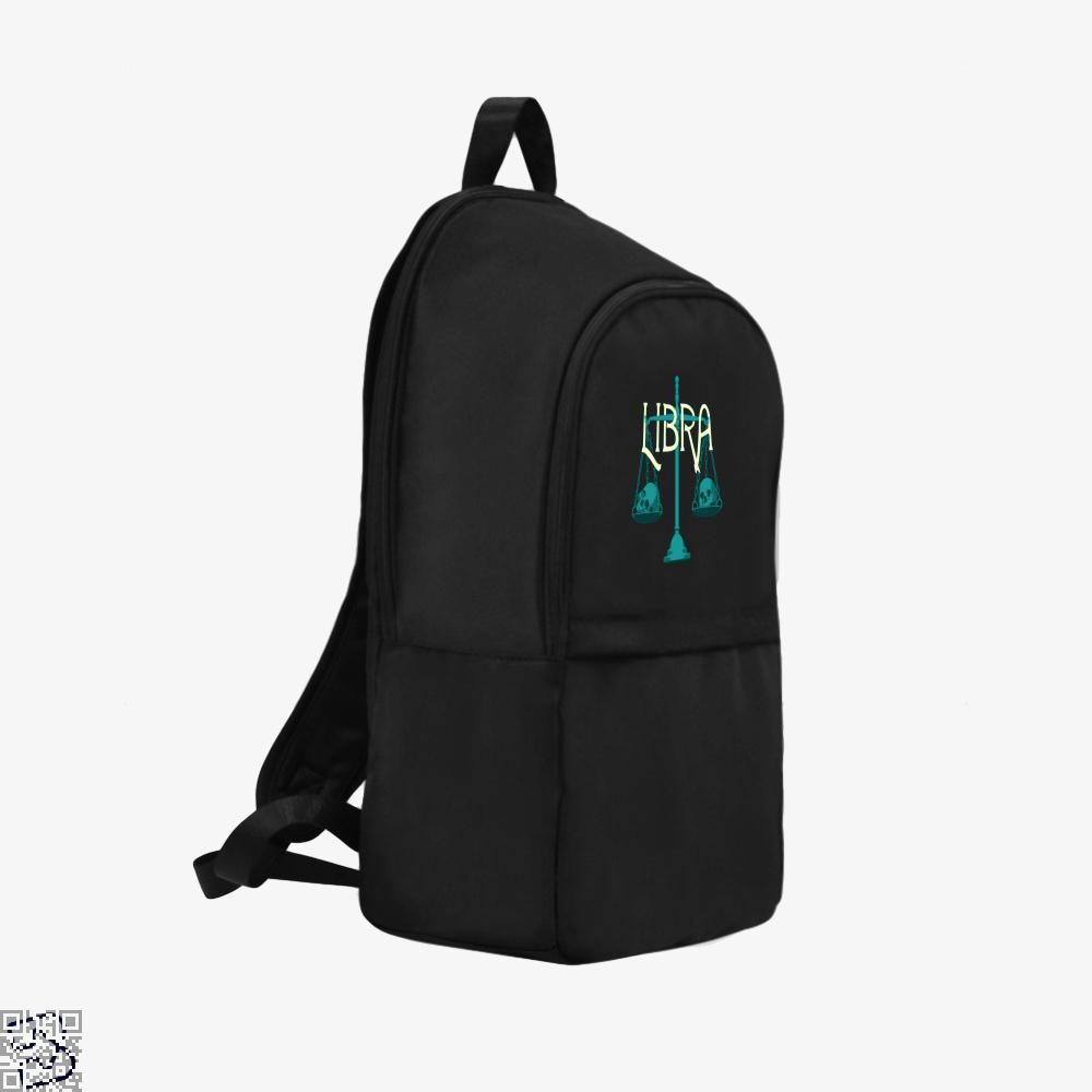 Libra Scales And Skulls Zodiac Astrology Backpack - Productgenapi