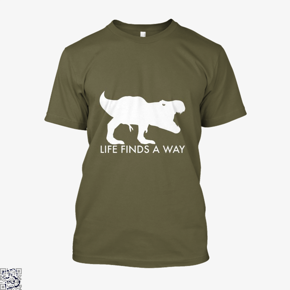 Life Finds A Way Jurassic World Shirt - Men / Brown / X-Small - Productgenapi