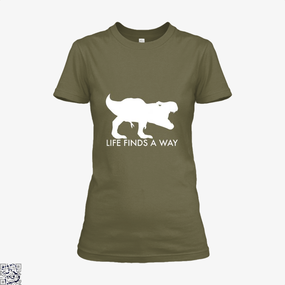 Life Finds A Way Jurassic World Shirt - Women / Brown / X-Small - Productgenapi