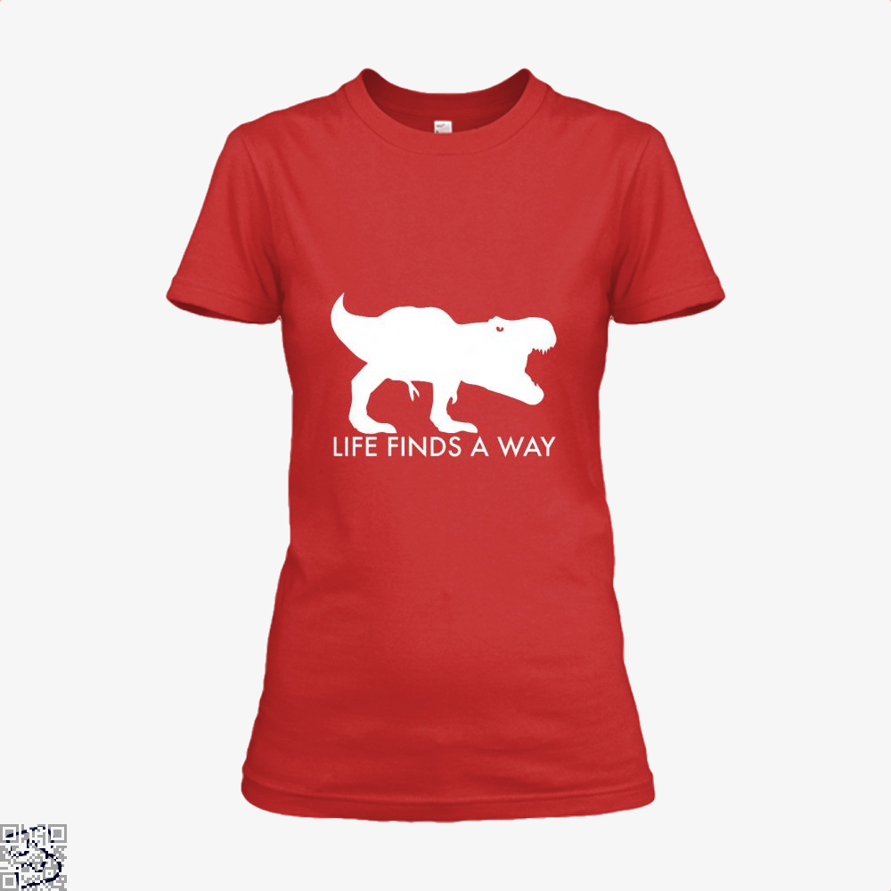 Life Finds A Way Jurassic World Shirt - Women / Red / X-Small - Productgenapi