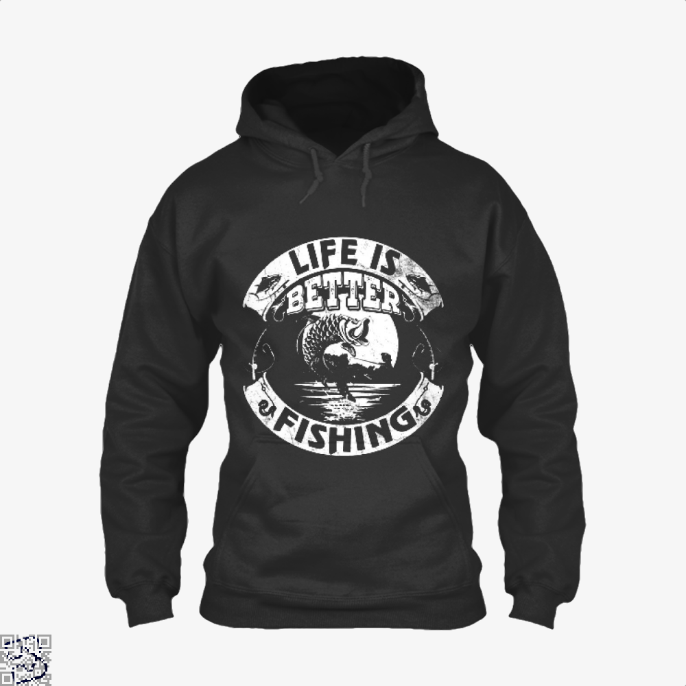 Life Is Better Fishing Hoodie - Black / X-Small - Productgenjpg