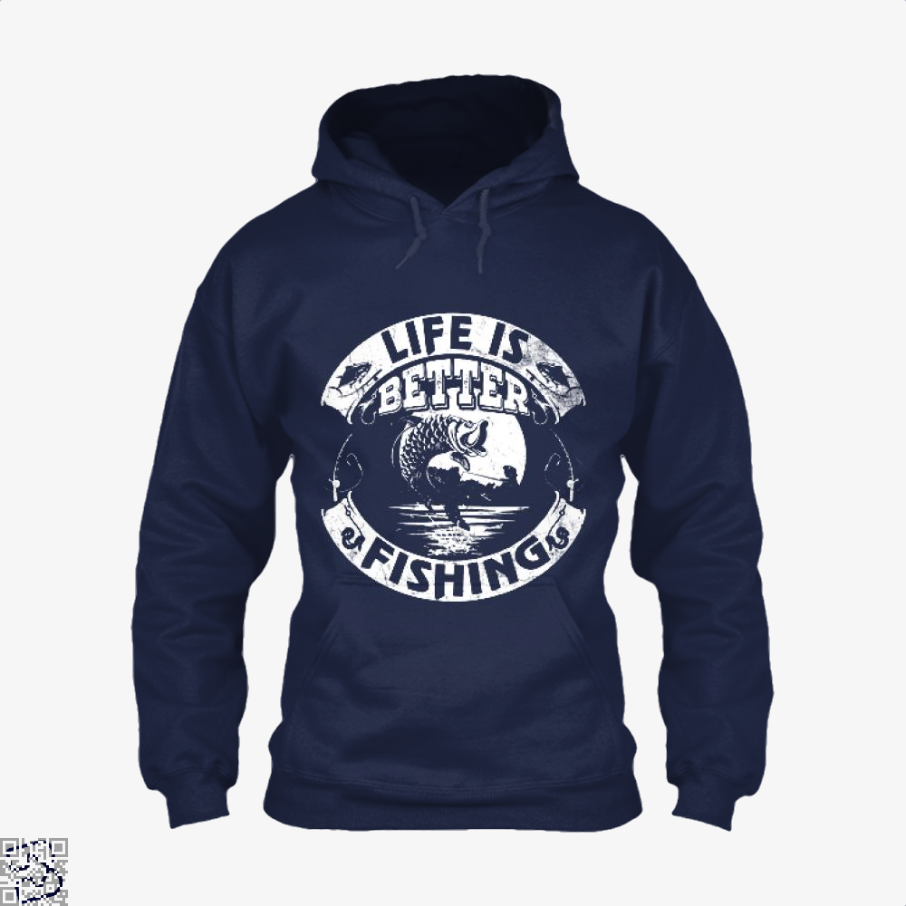 Life Is Better Fishing Hoodie - Blue / X-Small - Productgenjpg