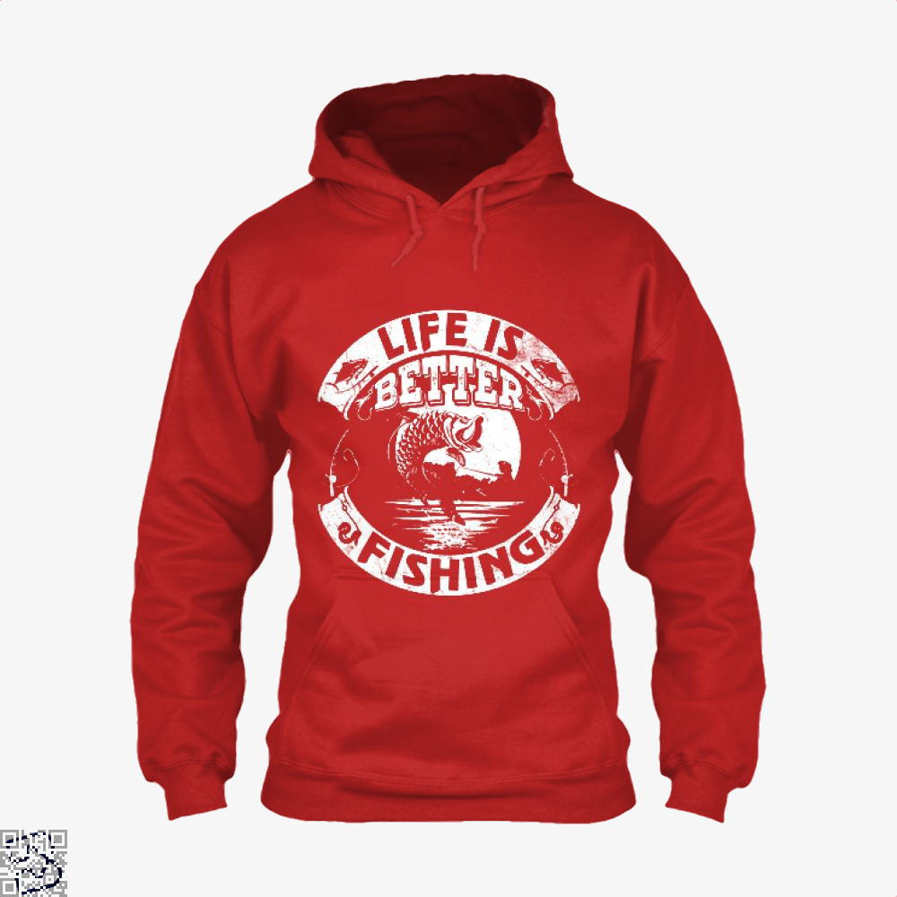 Life Is Better Fishing Hoodie - Red / X-Small - Productgenjpg