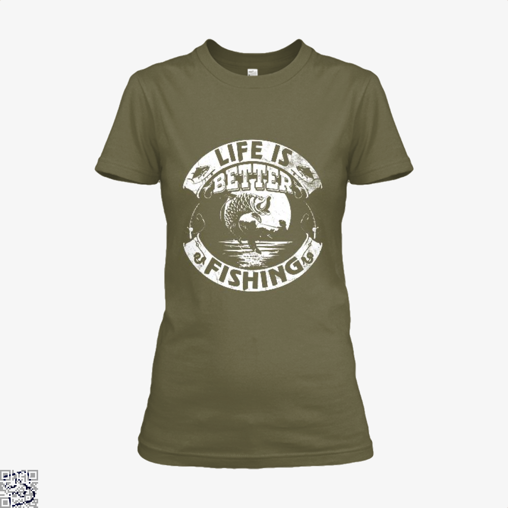 Life Is Better Fishing Shirt - Women / Brown / X-Small - Productgenjpg